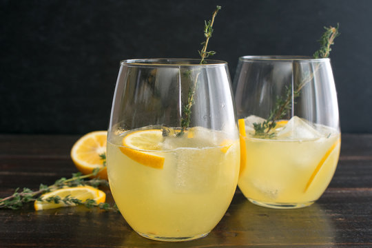 Meyer Lemon and Thyme Bees Knees: An updated version of a classic gin cocktail made with honey, Meyer lemons, and fresh thyme