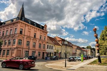 Fotomurales - neuruppin, deutschland - 18.07.2019 - panorama in der altstadt