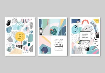 Set of Creative Poster Layouts