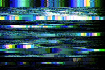 Glitch no signal background pixel noise, digital pattern. Fototapete