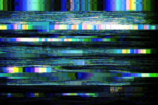 Glitch no signal background pixel noise, digital pattern.