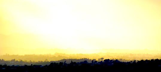 Fotorolgordijn Zwavel geel burn
