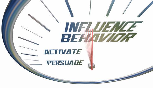 Influence Behavior Change Persuade Convince Alter Clock Words 3d Illustration