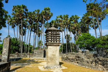 Ancient Pigeon cote for carrier pigeons used during colonial times of the Portuguese and Dutch in Delft Island, Jaffna, Sri Lanka,