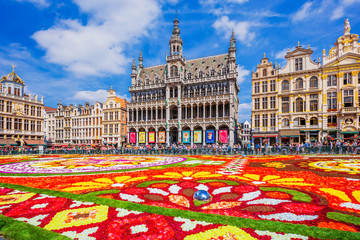 Brussels, Belgium. 2018 Flower Carpet festival.