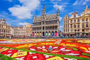 Ingelijste posters Brussel Brussels, Belgium. 2018 Flower Carpet festival.