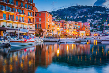 Canvas Prints Nice Villefranche sur Mer, France. Seaside town on the French Riviera