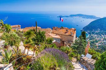 Foto auf AluDibond Cappuccino French Riviera. The Medieval Village of Eze.