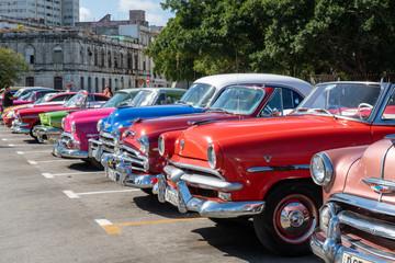 Vintage car still in use in Havana city, Cuba