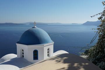 Fotorollo Santorini Eglise grecque dans le village d'oie à Santorin