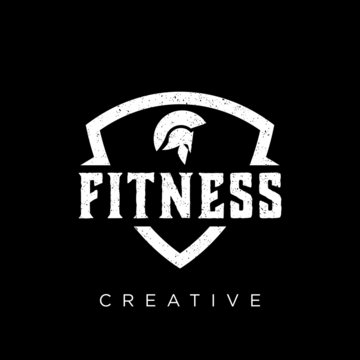 fitness logo design vector