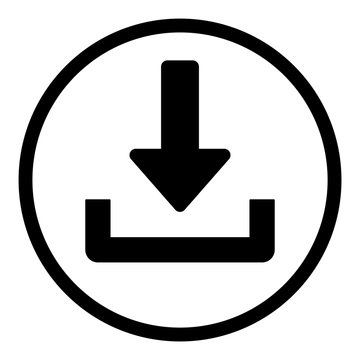 ewni45 ElementWebNewIcon ewni - german: download button / symbol. - english: download icon. - web graphic on white paper - xxl g9139