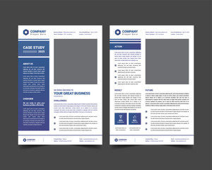 case study template with minimal design