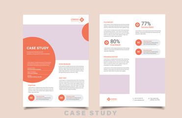 case study template with minimal design Fototapete