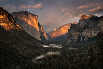 Foto op Canvas Grijze traf. Yosemite Valley Nationalpark