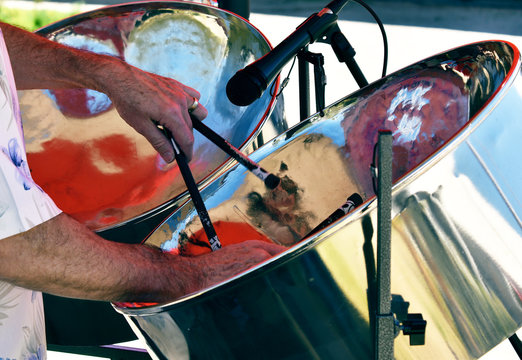 Playing Steel Drums at Art Festival