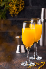 Papiers peints Alcool Mimosa cocktail with orange juice