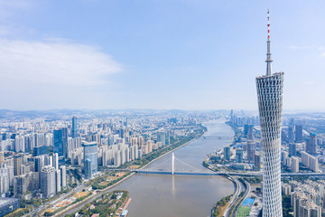 Canton Tower, Guangzhou China, Aerial Photography