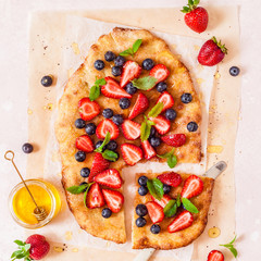 Flatbread with Berries and Honey