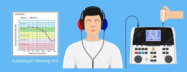 Audiologist audiometry hearing test screening disease patient