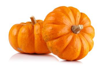 Whole mini pumpkin isolated on white