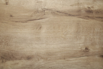 Light old wooden background with horizontal boards, top view Fotomurales