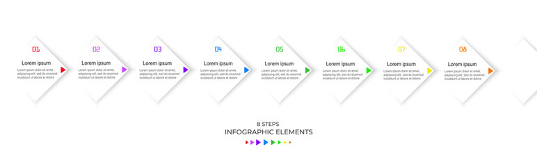 Infographic template with 8 steps, workflow, process chart. Modern business vertical timeline process chart infographics template.