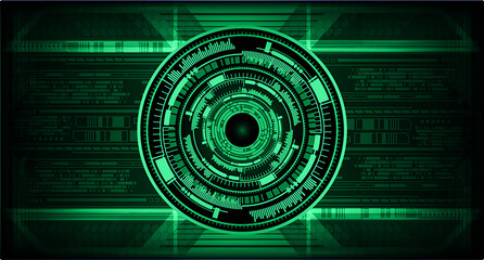 green eye cyber circuit future technology concept background Wall mural