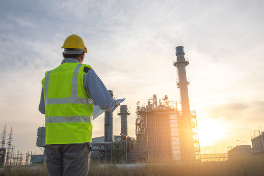 A power plant engineer at power plant