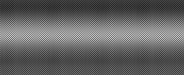 Türaufkleber Metall Silver brushed metal grid. Banner background texture