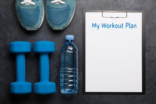 Fitness equipment and sheet for workout plan