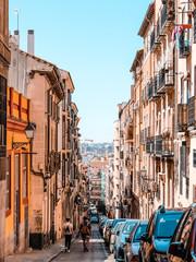 Printed roller blinds Madrid Calle Zurita