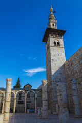 Minaret of the bride in the Umayyad Mosque, Damascus, Syria