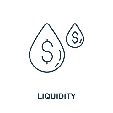 Liquidity icon from crowdfunding collection. Simple line Liquidity icon for templates, web design and infographics