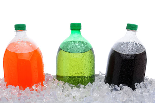 2 Liter Soda Bottles in Ice