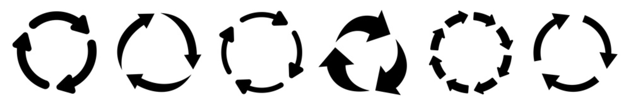 Set of arrow recycle, means using recycled resources, recycling, arrows, recycle icon – vector