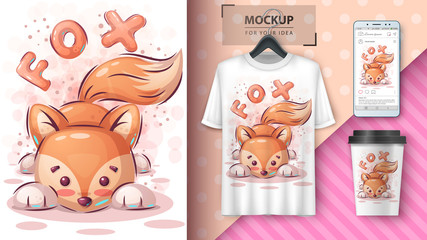 Teddy fox poster and merchandising.