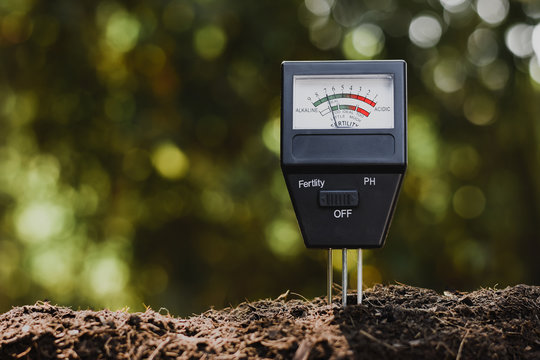 Soil pH meter and soil fertility meter for cultivation.