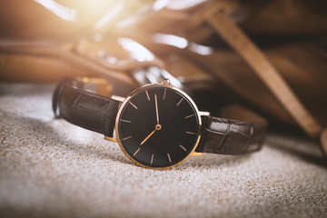 Isolate woman wristwatch