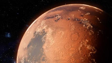 Orbiting Planet Mars. High quality 3d illustration Fotomurales