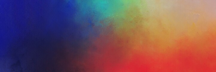 vintage abstract painted background with indian red, midnight blue and dark sea green colors and space for text or image. can be used as horizontal background texture