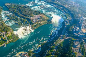 Papiers peints Bleu vert Niagara Falls Aerial