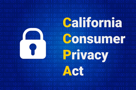 CCPA - California Consumer Privacy Act. vector background. Consumer protection for residents of California, United States. USA data security.
