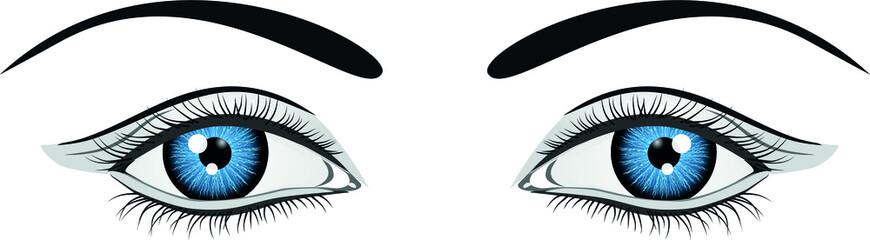 ilustración ojos azules. Archivo vectorial Fotomurales