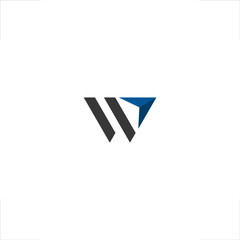 w letter logo arrow up design