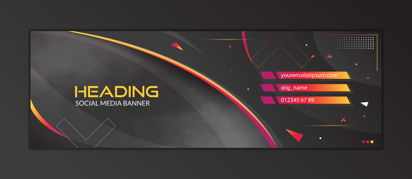 Abstract Gaming Header Social Media Banner Template