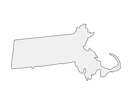 High detailed vector map. Massachusetts USA state