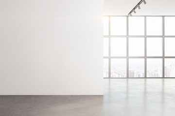 Minimalistic interior with window