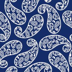Seamless pattern of a pretty paisley design,