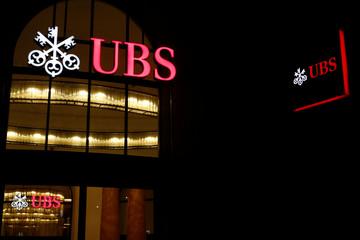 Logo of Swiss bank UBS is seen in Basel
